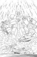 Transformers 9 - Cover Lineart by GuidoGuidi