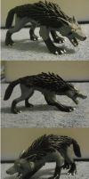 Fenris the Mightyena sculpture by Iron-Zing