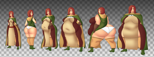 Commission: Weight gain Emerald Herald by ModeZombie