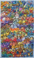 Epic Pokemon Generation 1 Cross Stitch Complete