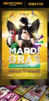 Mardi Gras Flyer Template by odindesign