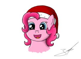 Christmas Pinkie Pie by DerpyJoel