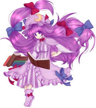 Patchouli Knowledge : AWA Scroll Project by Suikasen