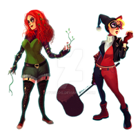 Harley and Ivy :) by yosilog