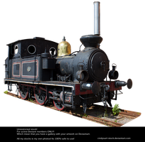 Old Locomotive By Cindysart-stock by CindysArt-Stock