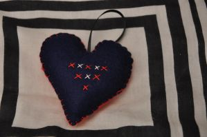 Embroidered Heart 2 by VickitoriaEmbroidery
