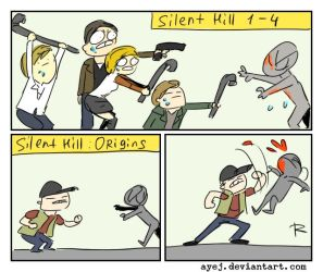 Silent Hill, doodles 21 by Ayej