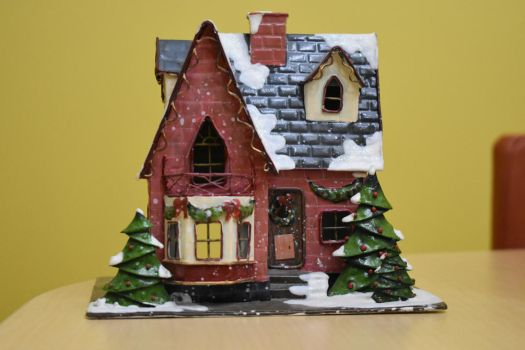 Christmas House Stock by AmandaKulpStock