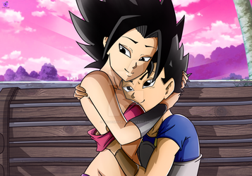 Commission: Cabba X Caulifla #4 by ChigoSenpai