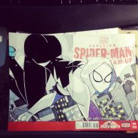 Spider-Gwen Sketch Cover by the-kid36