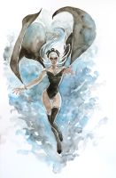 ororo-watercolours by ryuloulou