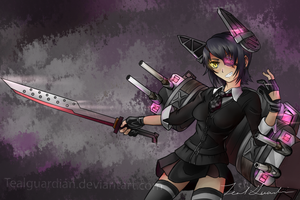 Interested in my weapons? by TealGuardian