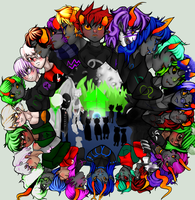 homestuck trolls WITH HUMANS by SmasherlovesBunny500