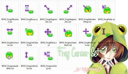 Frog cursor by kittymoon23