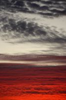 Red Sea and Cobbled Sky by Charlene-Art