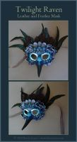 Twilight Raven - Leather Mask by windfalcon