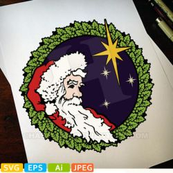 Santa, Peace And Joy in color by hassified