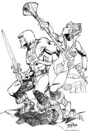He-Man and Teela by MikeDimayuga