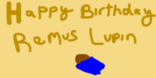 Happy Birthday Remus Lupin-WIP by Mairelyn
