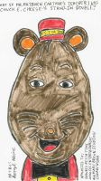 Mr. Ratburn as Chuck E. Cheese by dth1971