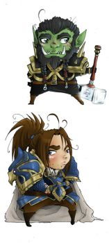 Lil Thrall and Varian Danglies by LinkWorshiper