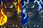 Inferno and Thunderstorm by AlmightyRayzilla