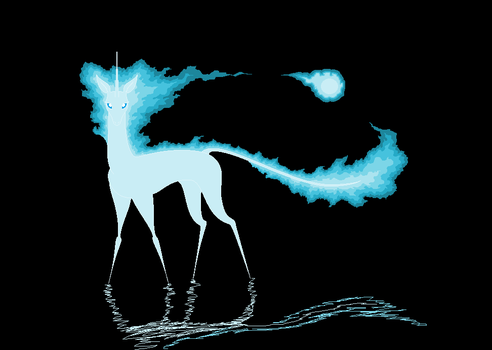 REQUEST - Will'O'Wisp Unicorn by BambisParanoia