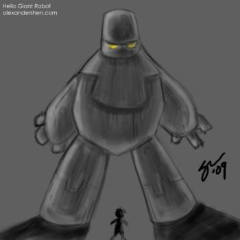Hello Giant Robot by soks2626
