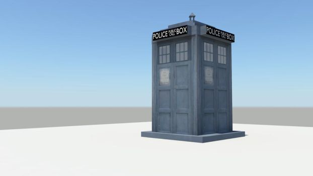 TARDIS DOCTOR WHO MODELING by p0r1ng