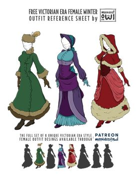 FREE victorian style winter female outfit by painted-leaf