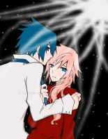 Noctis and Lightning: Mine by candytenshi