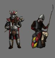 Dwarf soldiers by Kaloith