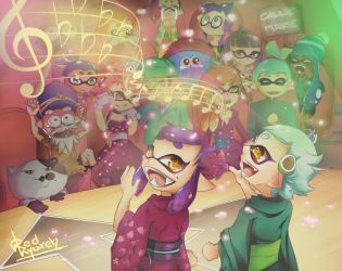 Callie and Marie song contest by RedKyuren