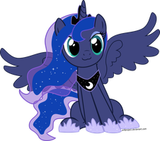 Princess Luna cat face vector by arifproject