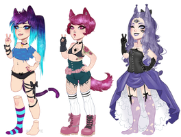Corrupted Spacemimi adoptables Closed by Drovie