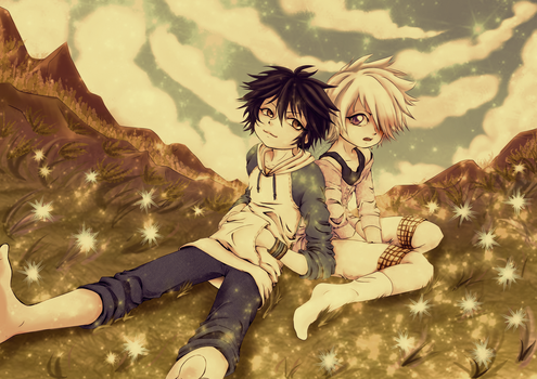 [Tegami Bachi] Stop Leaning on me XD by HunterK