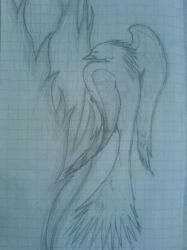 Phoenix Drawing :D by dragon-pinguin