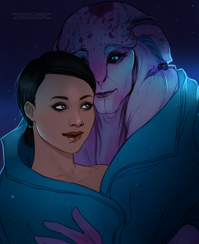 MEA: Safe Space {Jaal/Ryder} [Commission] by LadyTheirin