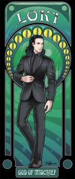 Black suit! Loki by StudioKawaii