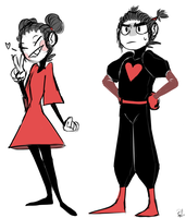 Pucca and Garu quickdoodle by RozaliaRed