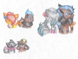 Night Chasers doodles by FloofAngel