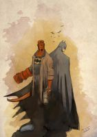 Fast Hellboy and Batman... by IttoOgamy
