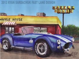 1966 Shelby Cobra At Waffle House by FastLaneIllustration