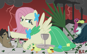 Fluttershy's Megalomania by BronyBiscuitBites