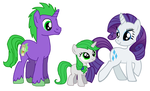 Rarity x Spike: Family by DarthGoldstar710