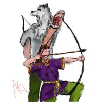 Wolf Claw and Aella by NinjaObsessed