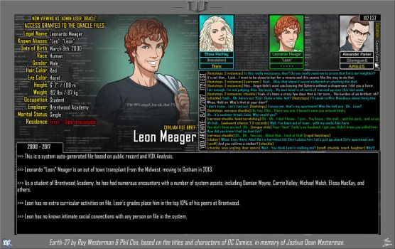 [Earth-27: Oracle Files] Leon Meager by Roysovitch