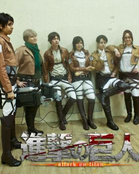 Attack on Titan- In-Line by twinfools