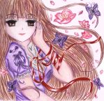 Purple butterflies in a spring day by Maya-nyan
