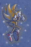 Super Sonic with pencils by ThePandamis
